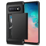 Tough Armour Card Holder Slide Case for Samsung Galaxy S10 - Black